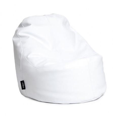 Puff Lounge Polipiel Blanca